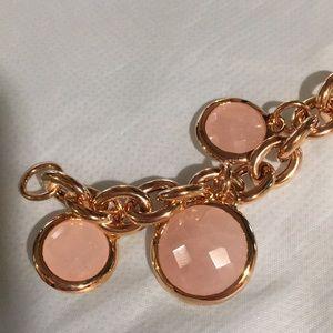 Jewelry - ROSE TONE CHARM BRACELET NWOT NEVER WORN